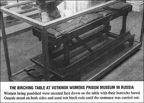 birching table in a Russian prison for women