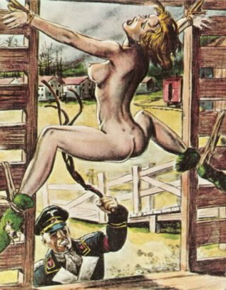 pussy whipping in a nazi prison camp